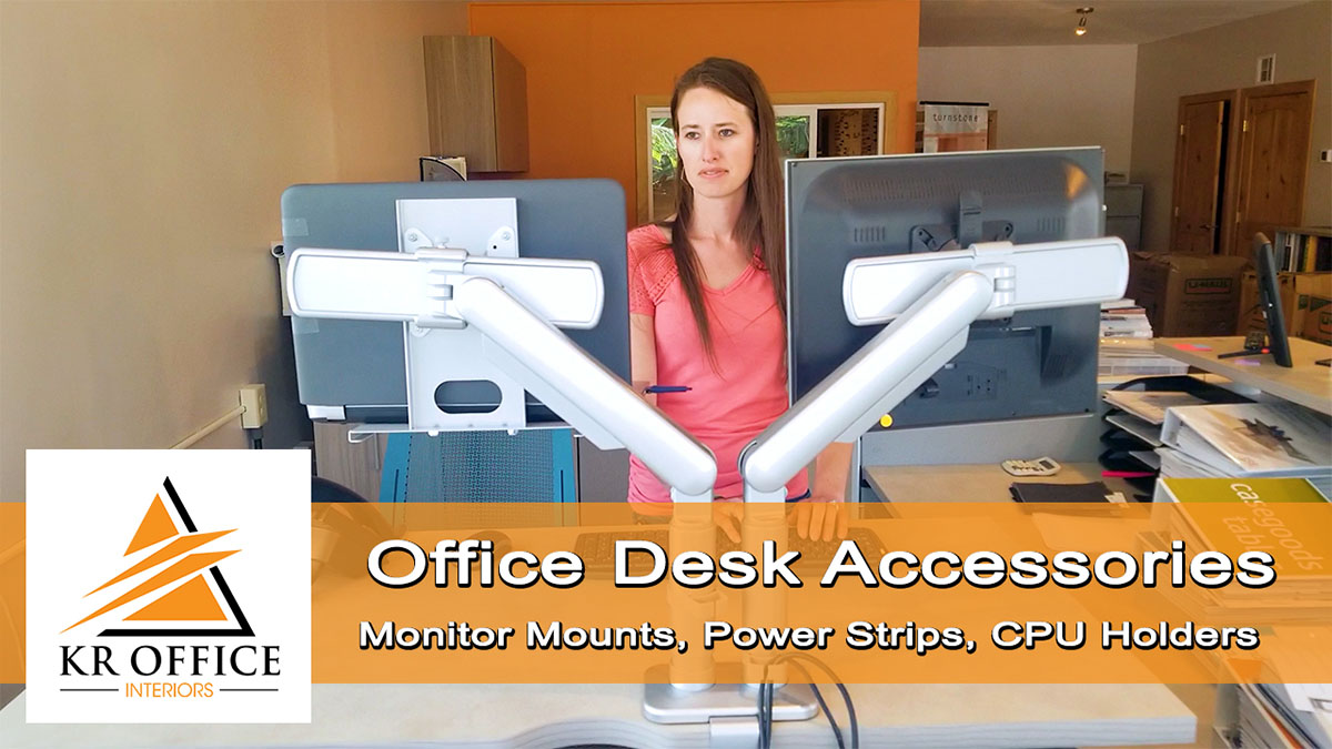 Office Desk Accessories | Monitor Mounts Power Strips CPU Holders